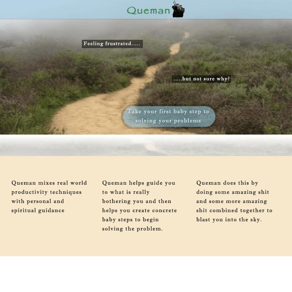 Queman - a spiritual productivity web application - image 1 - student project