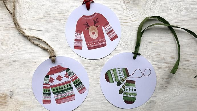 Watercolour Christmas Patterns - image 1 - student project