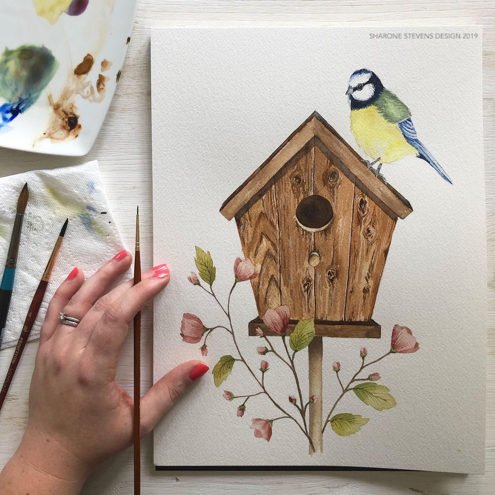 Painting Wood in Watercolour - image 1 - student project