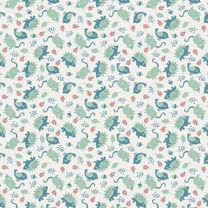 Backyard Nature / Children's pattern - image 4 - student project