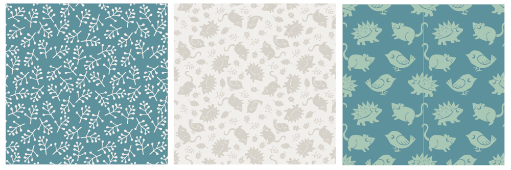 Backyard Nature / Children's pattern - image 6 - student project