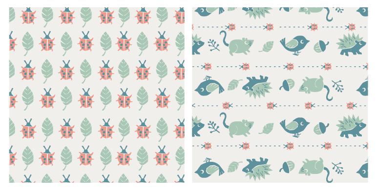 Backyard Nature / Children's pattern - image 5 - student project
