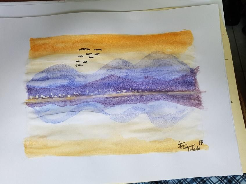 Child-school graded watercolor..   - image 3 - student project