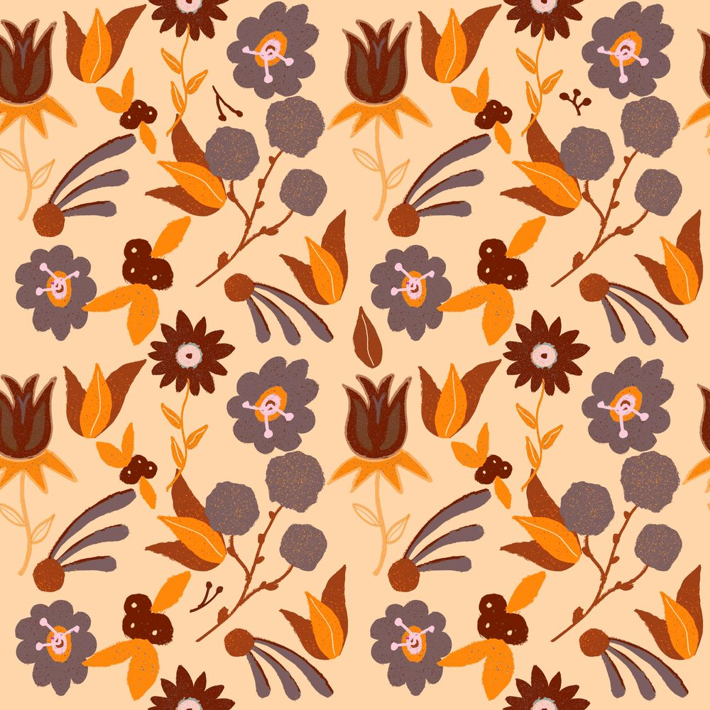 Repeating Floral Pattern using Procreate - image 4 - student project