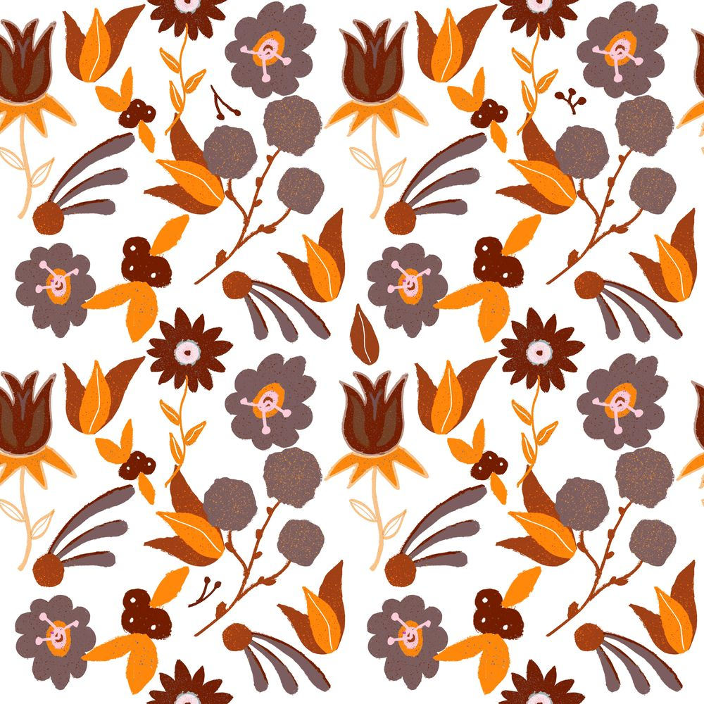 Repeating Floral Pattern using Procreate - image 3 - student project