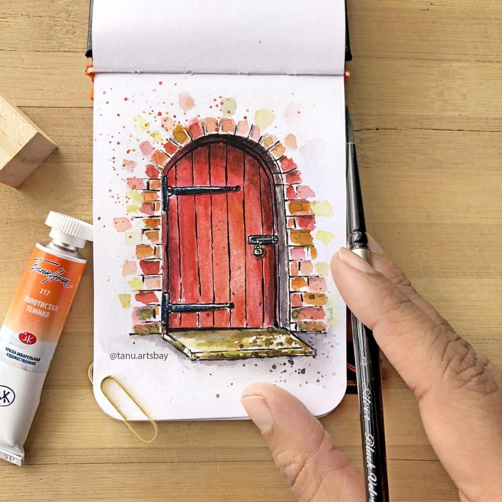 Door Illustration - image 1 - student project