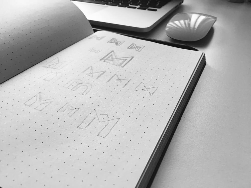 Letter M grid logo - image 2 - student project