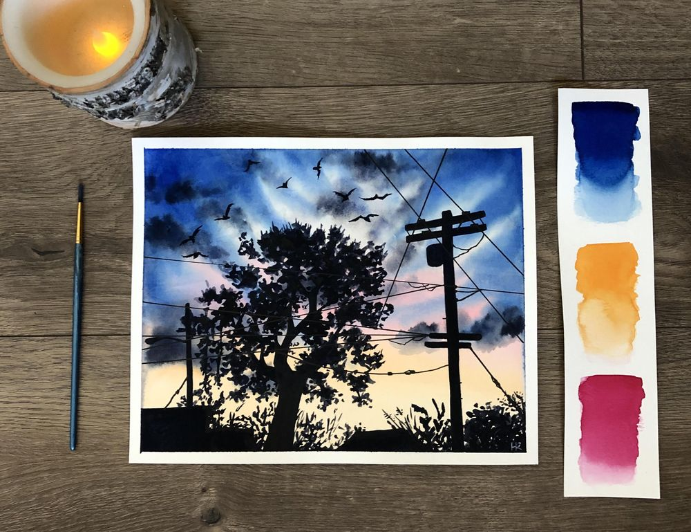 This is my first ever #100dayproject with watercolors - image 6 - student project