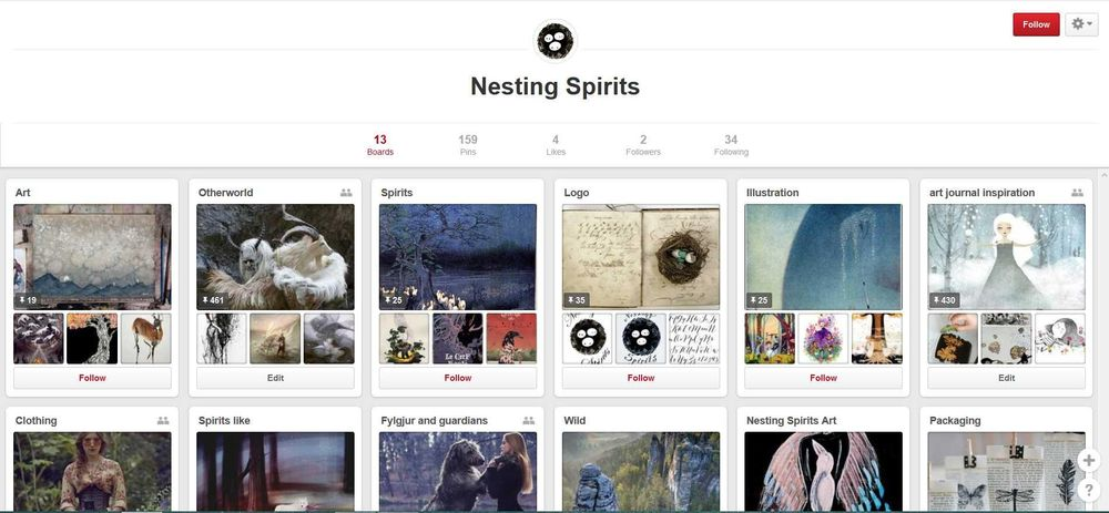 Nesting Spirits & social networks - image 2 - student project
