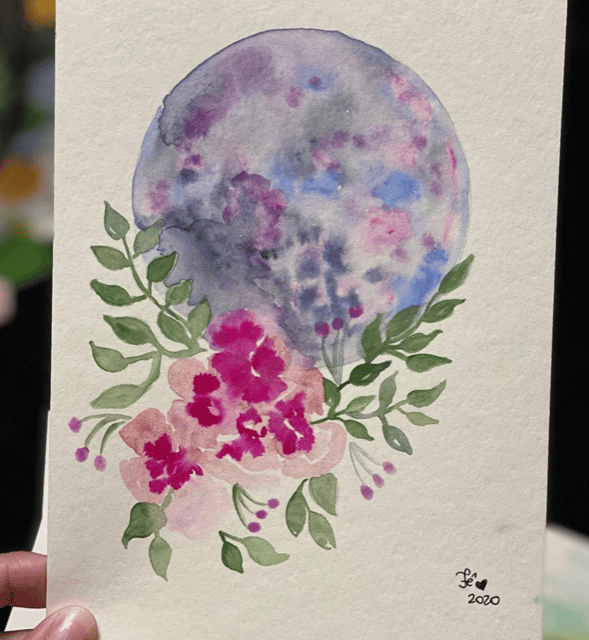 Moon and Flowers - image 1 - student project