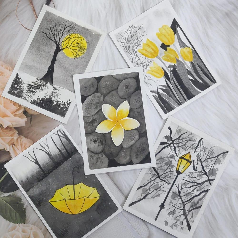 Watercolor postcards: Color splash series - image 7 - student project
