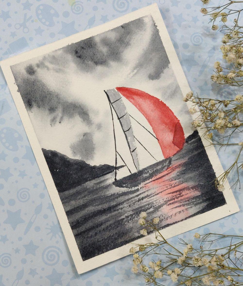Watercolor postcards: Color splash series - image 2 - student project
