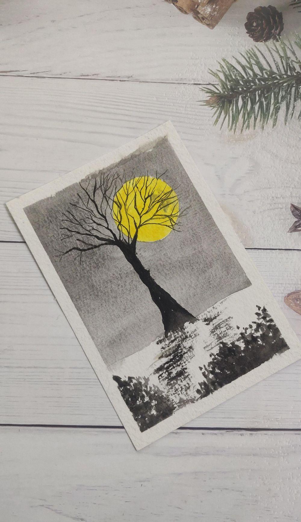 Watercolor postcards: Color splash series - image 8 - student project