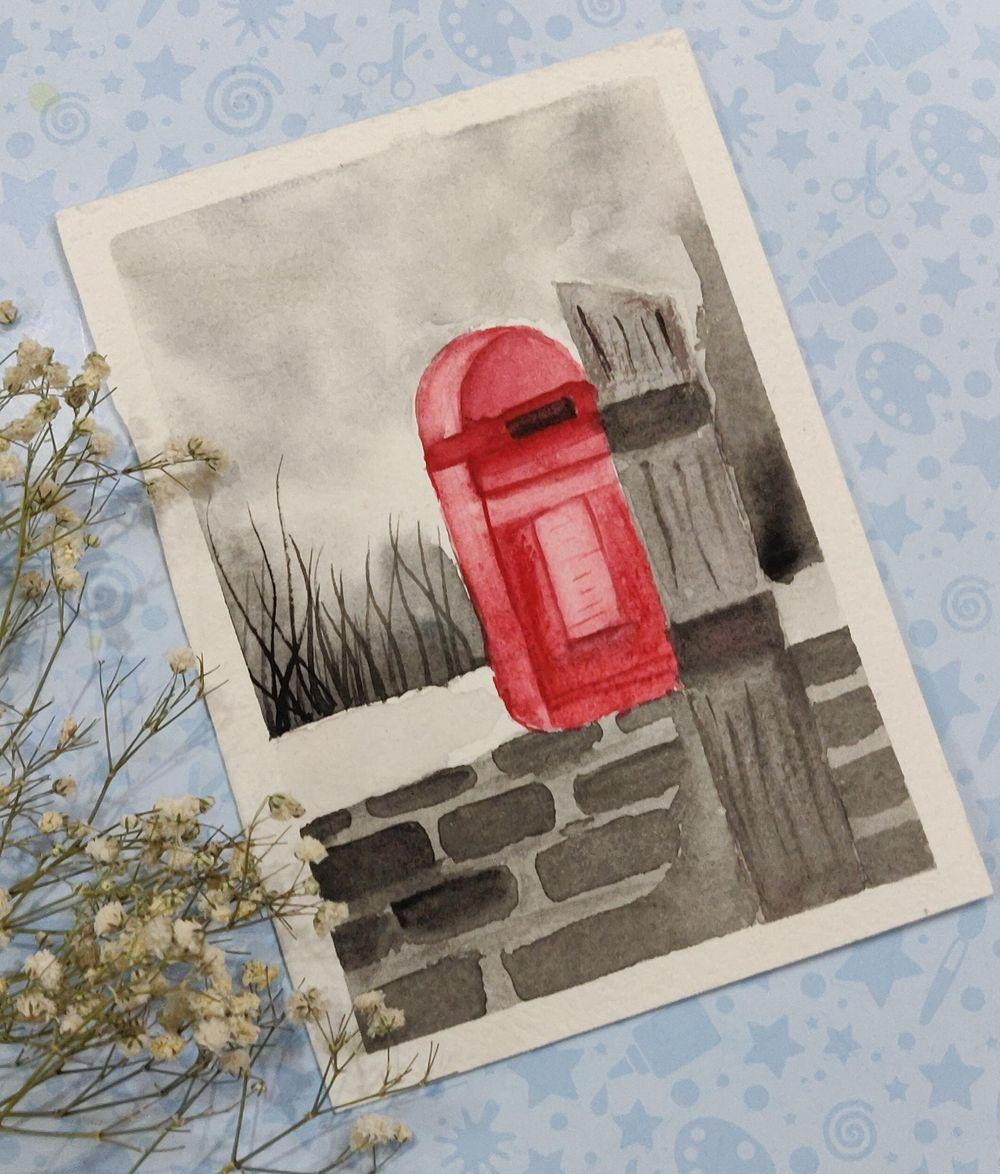 Watercolor postcards: Color splash series - image 4 - student project