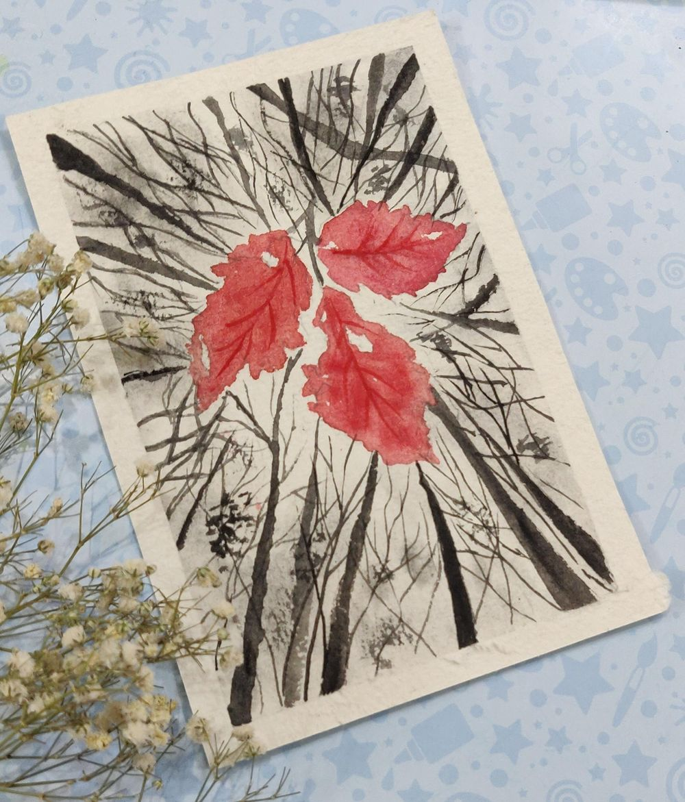 Watercolor postcards: Color splash series - image 6 - student project