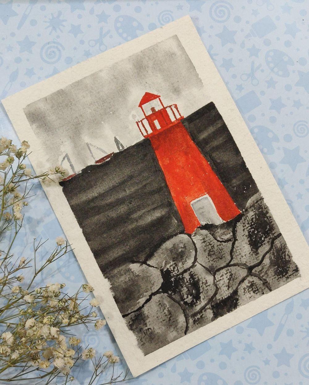 Watercolor postcards: Color splash series - image 5 - student project
