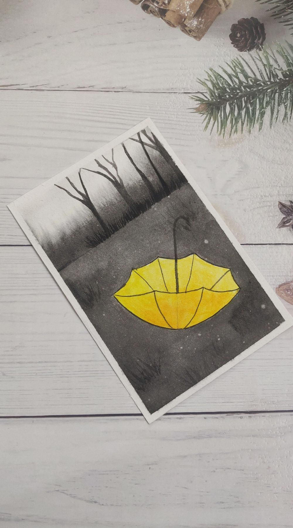 Watercolor postcards: Color splash series - image 10 - student project