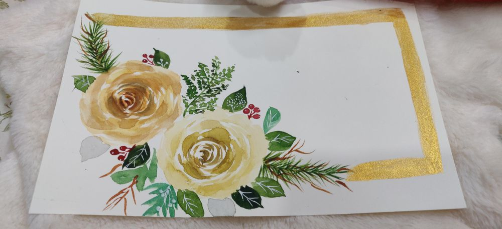 Modern holiday Watercolor florals - image 2 - student project