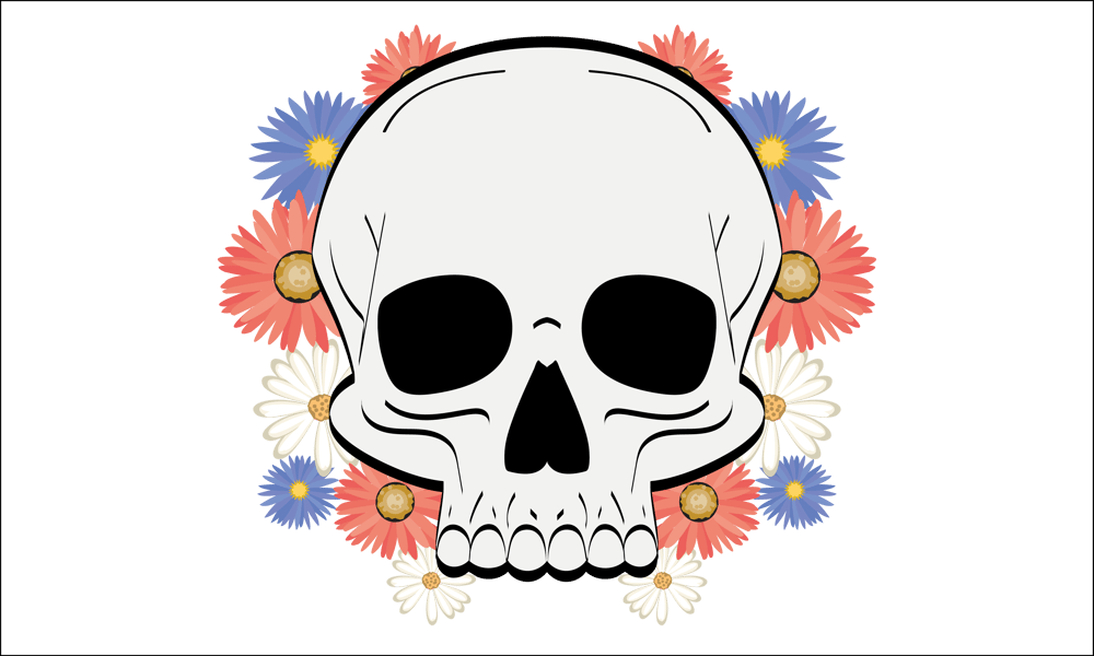 Flowery Skull - image 1 - student project