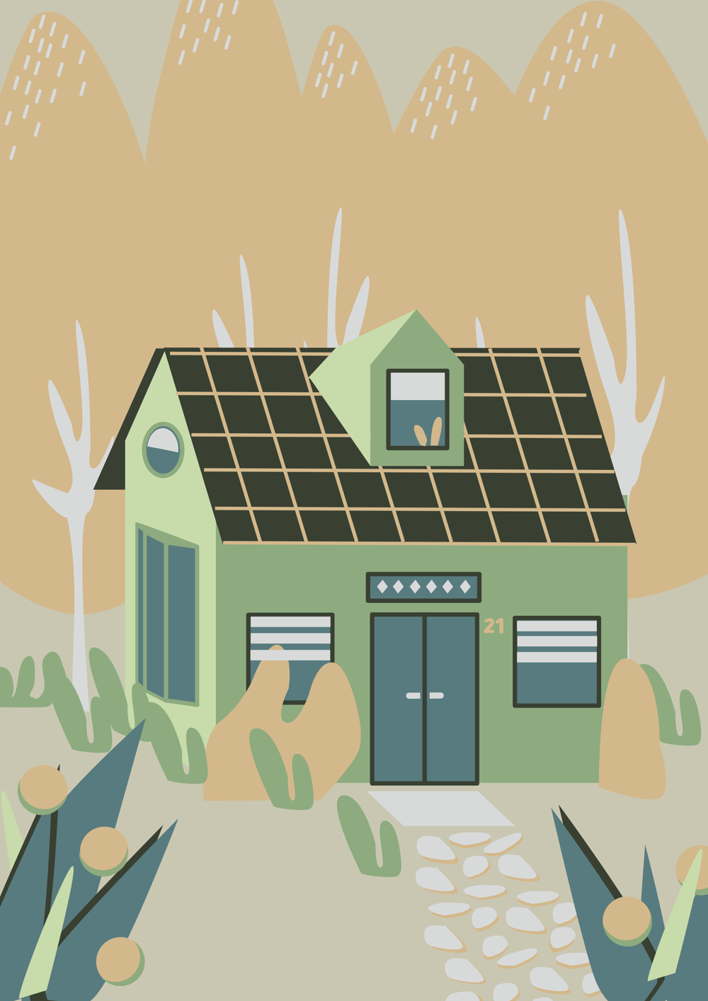 Tiny house in the woods - image 3 - student project