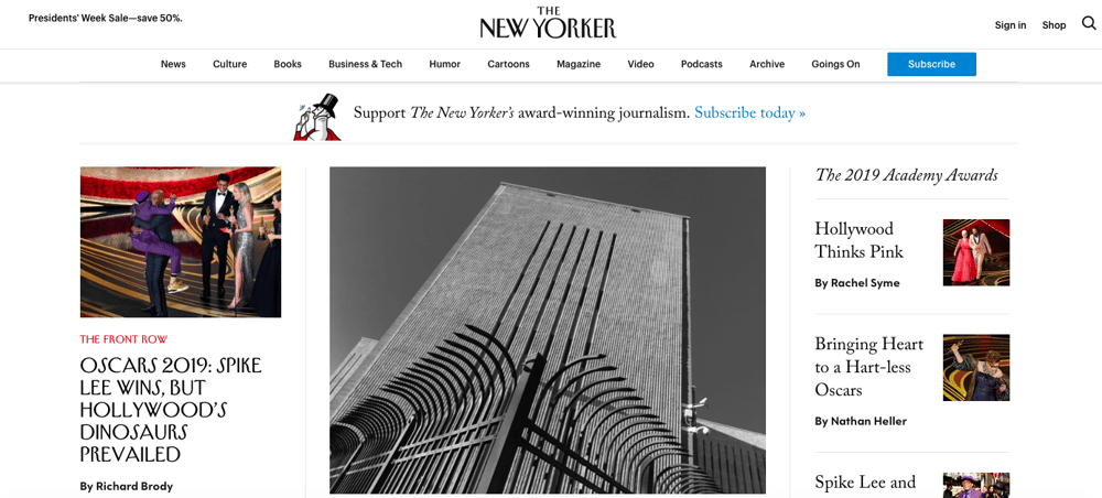 Color Contrast & The New Yorker Homepage - image 1 - student project