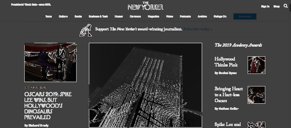 Color Contrast & The New Yorker Homepage - image 2 - student project