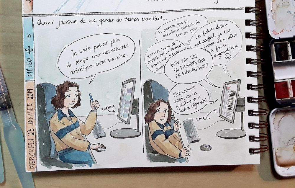 Comic: Planning Time for Art - image 1 - student project