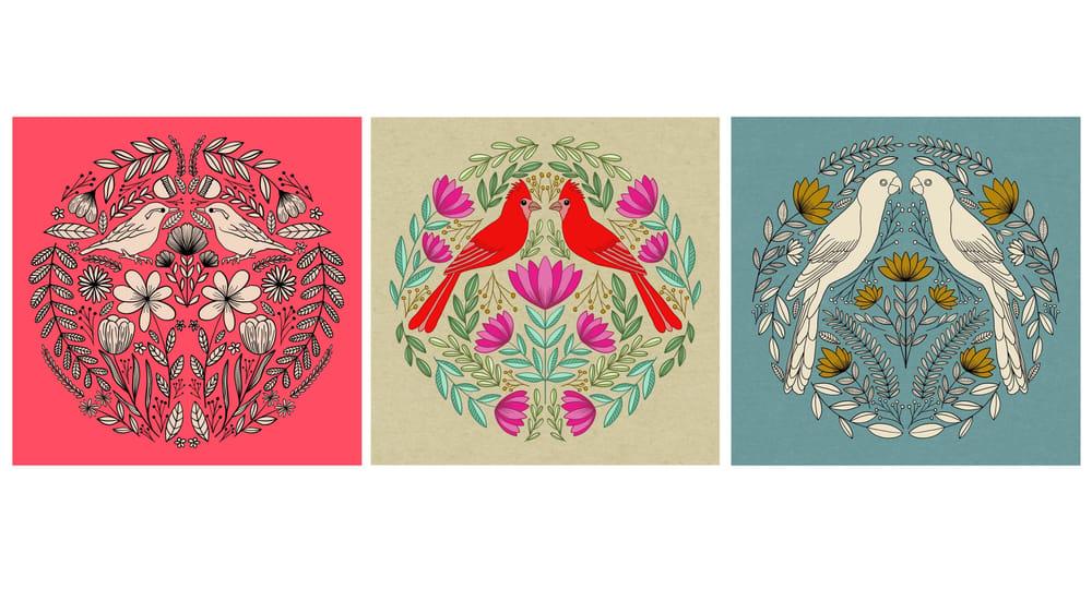 Folk Art Illustrations in Procreate - image 3 - student project