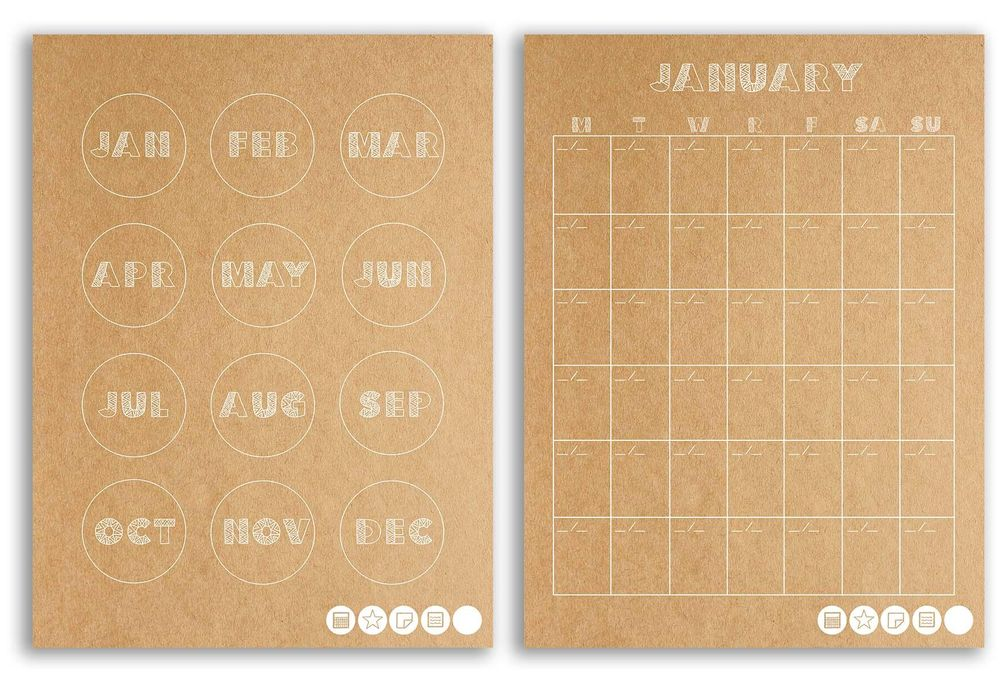 My New Mudcloth Customizable Planner! (free download) - image 1 - student project