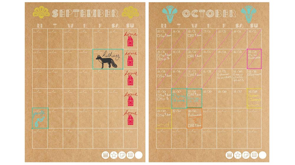 My New Mudcloth Customizable Planner! (free download) - image 4 - student project