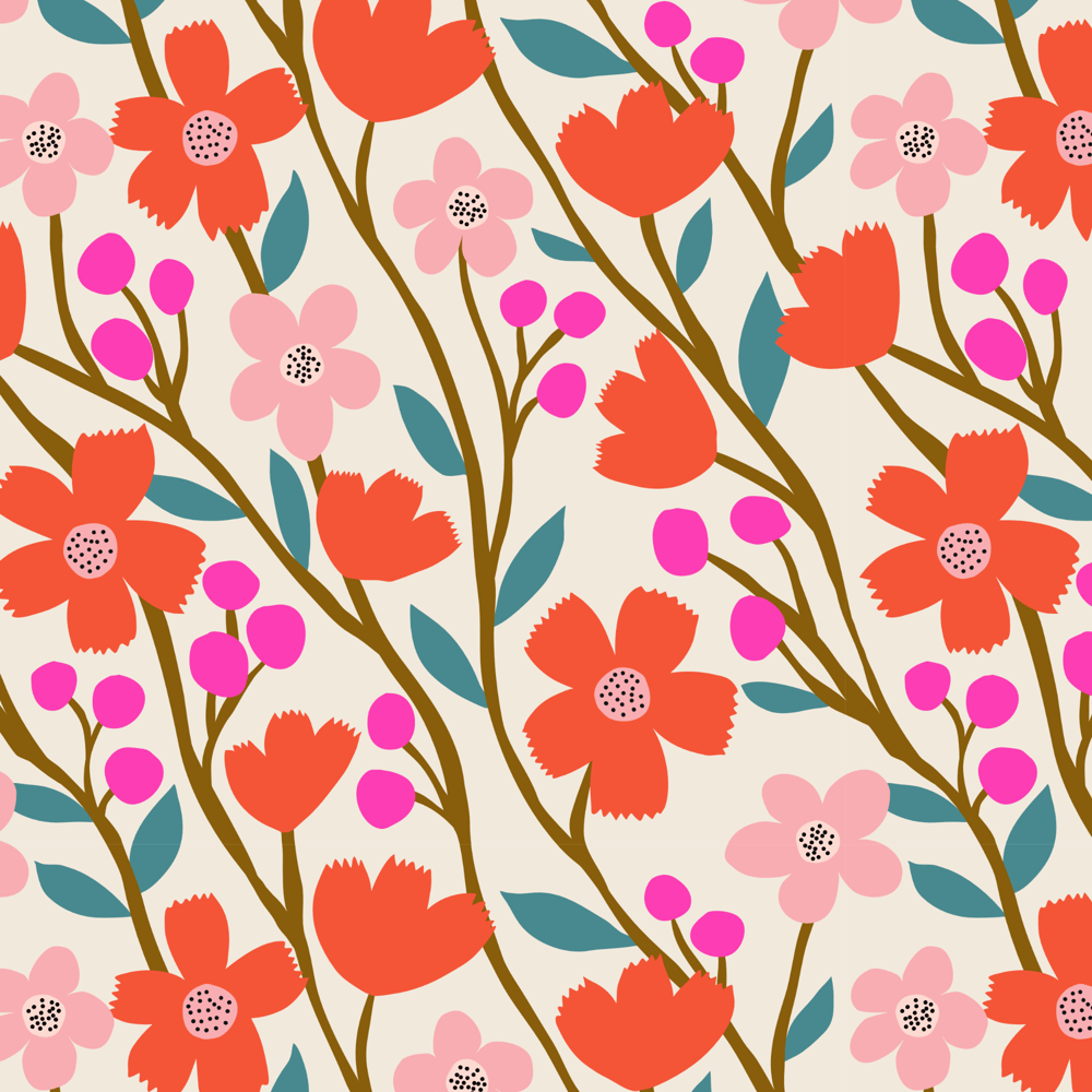 Wildflower Pattern Collection - image 3 - student project