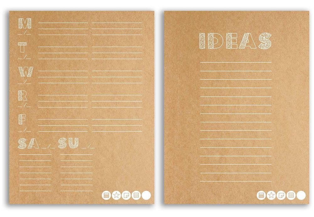 My New Mudcloth Customizable Planner! (free download) - image 2 - student project