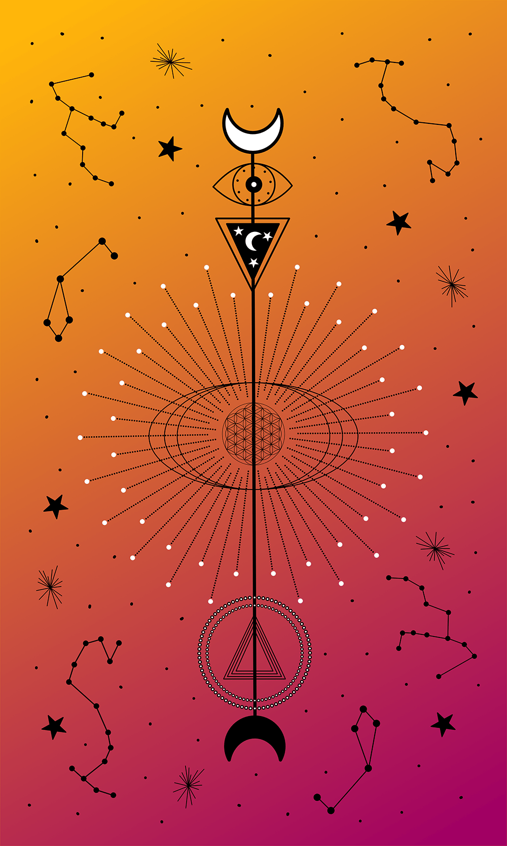 Geometric Vector Illustrations Made in Affinity Designer - image 4 - student project