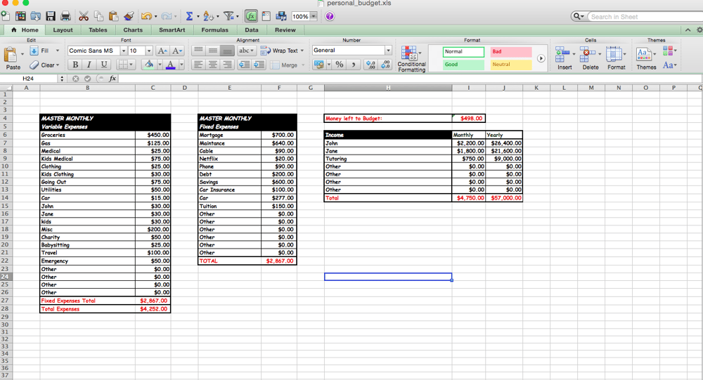 My First Basic Excel Project - image 2 - student project