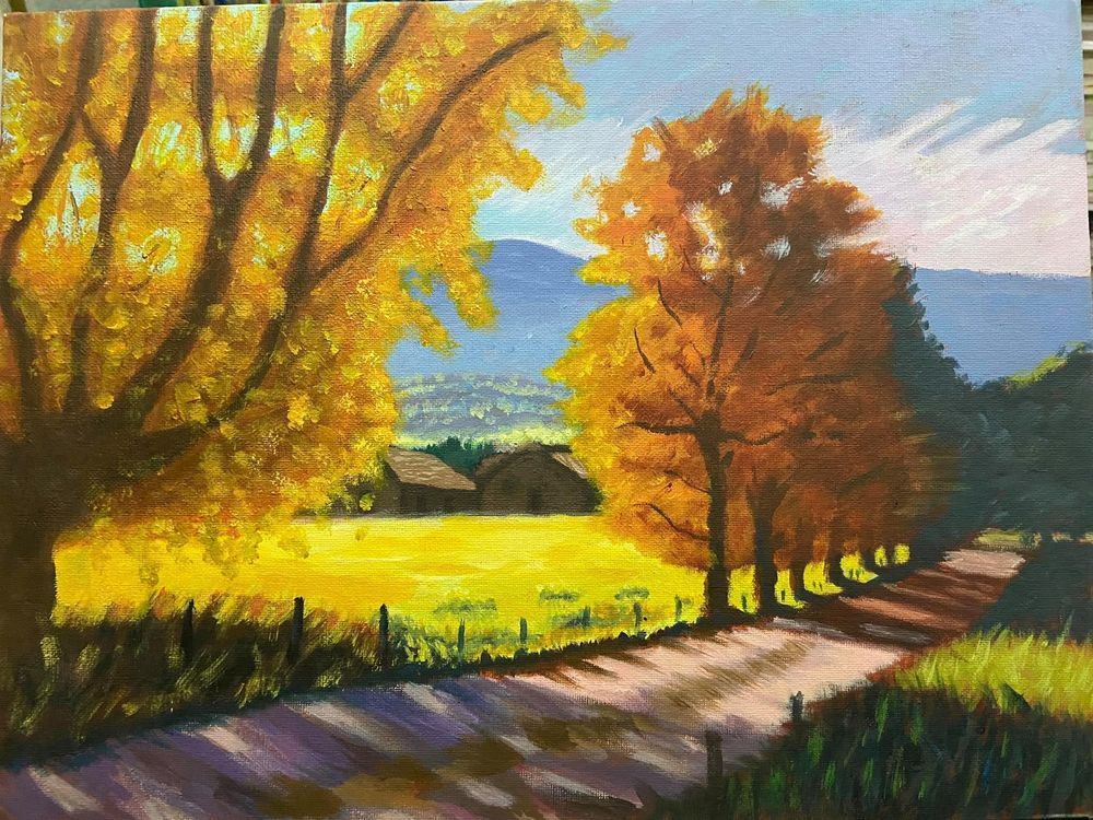 Countryside Path - Acrylic - image 1 - student project