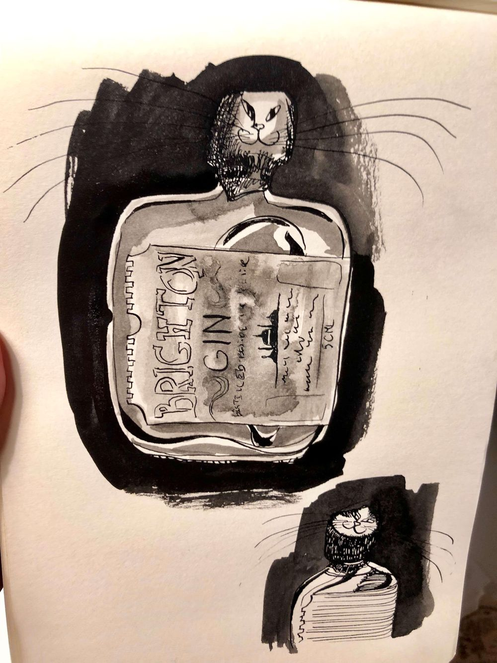 First experiments with ink :3 - image 1 - student project