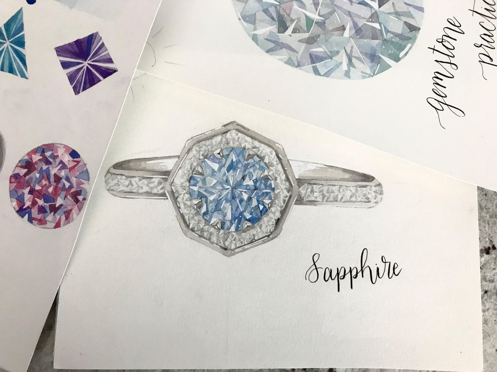 Sapphire/Virgo Ring - image 1 - student project