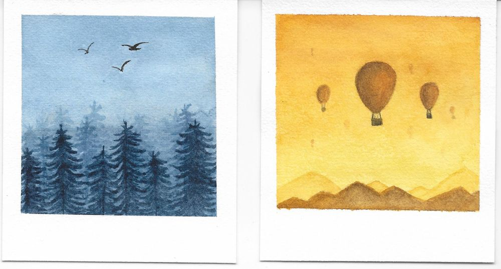 Relaxing Watercolour Projects - image 5 - student project