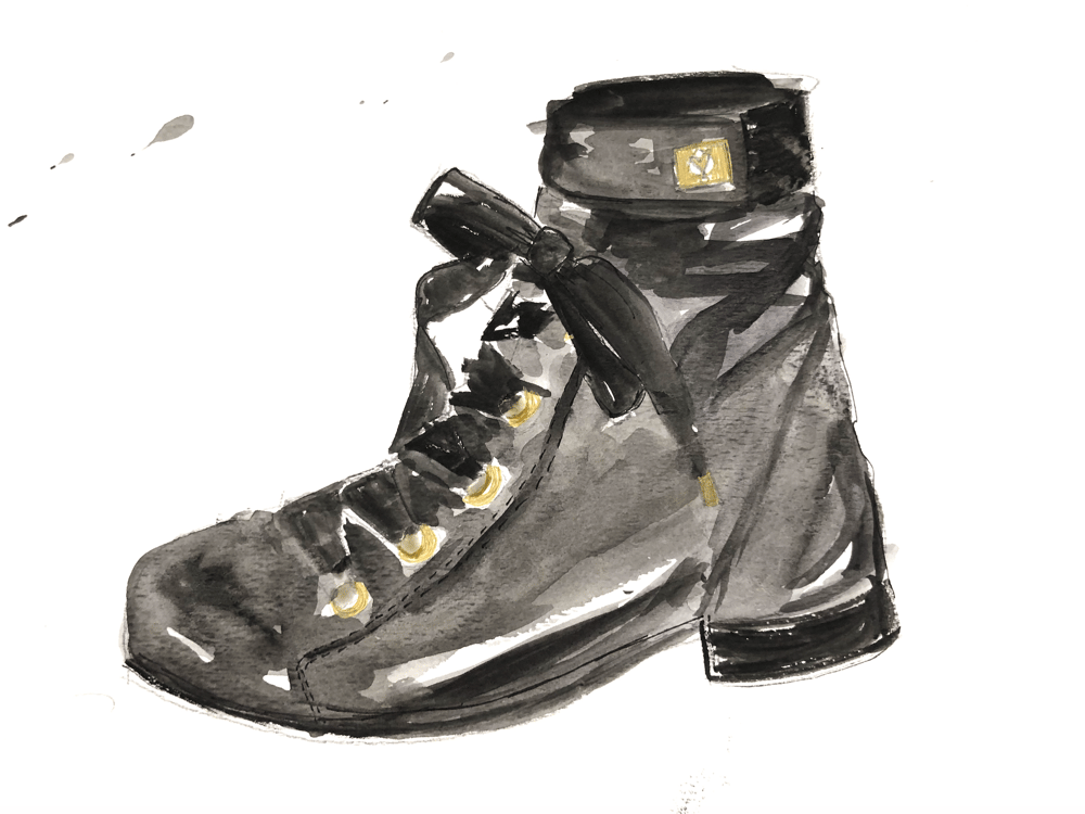 Watercolor Shoes - image 2 - student project