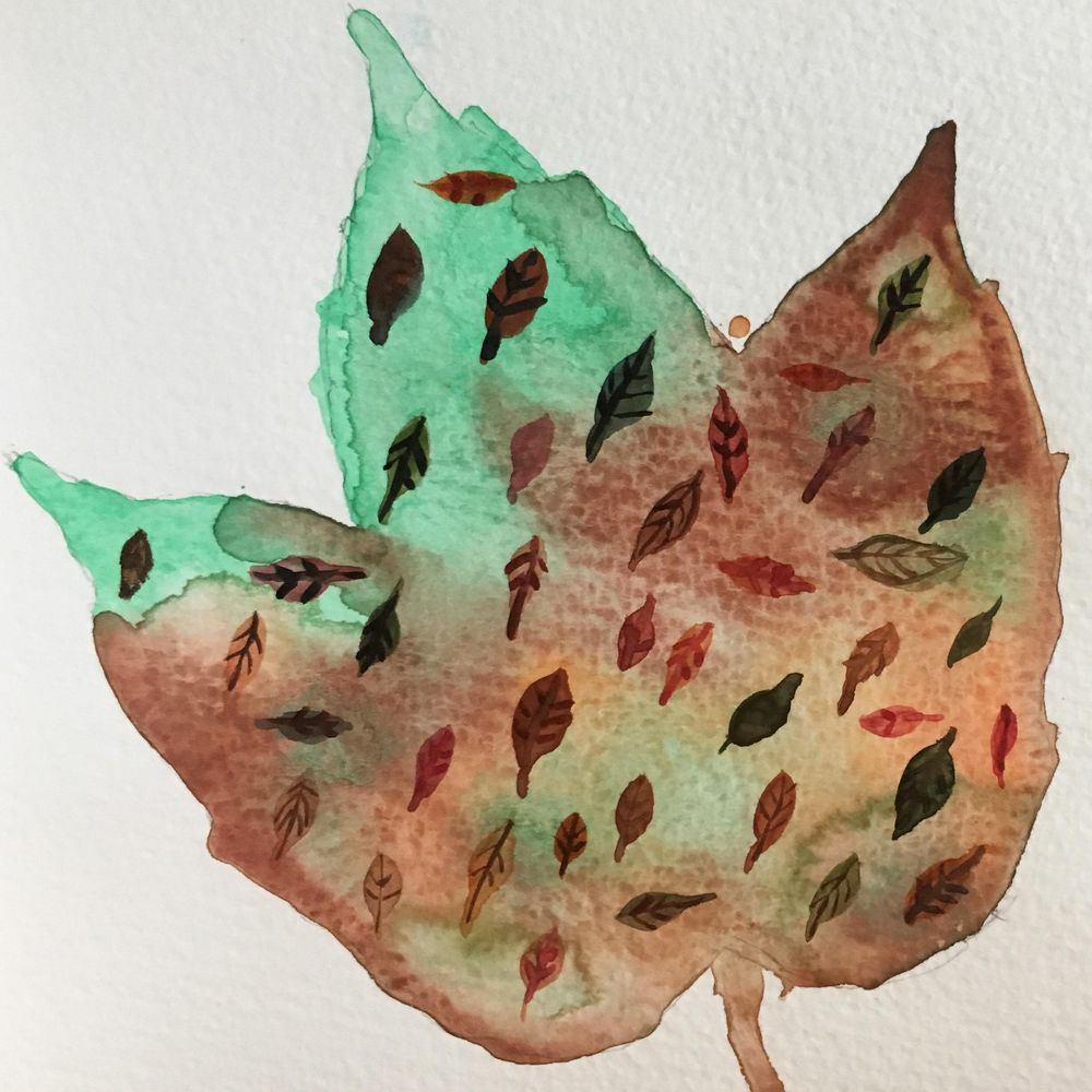Painting Autumn Leaves as Kid's Activity - image 3 - student project
