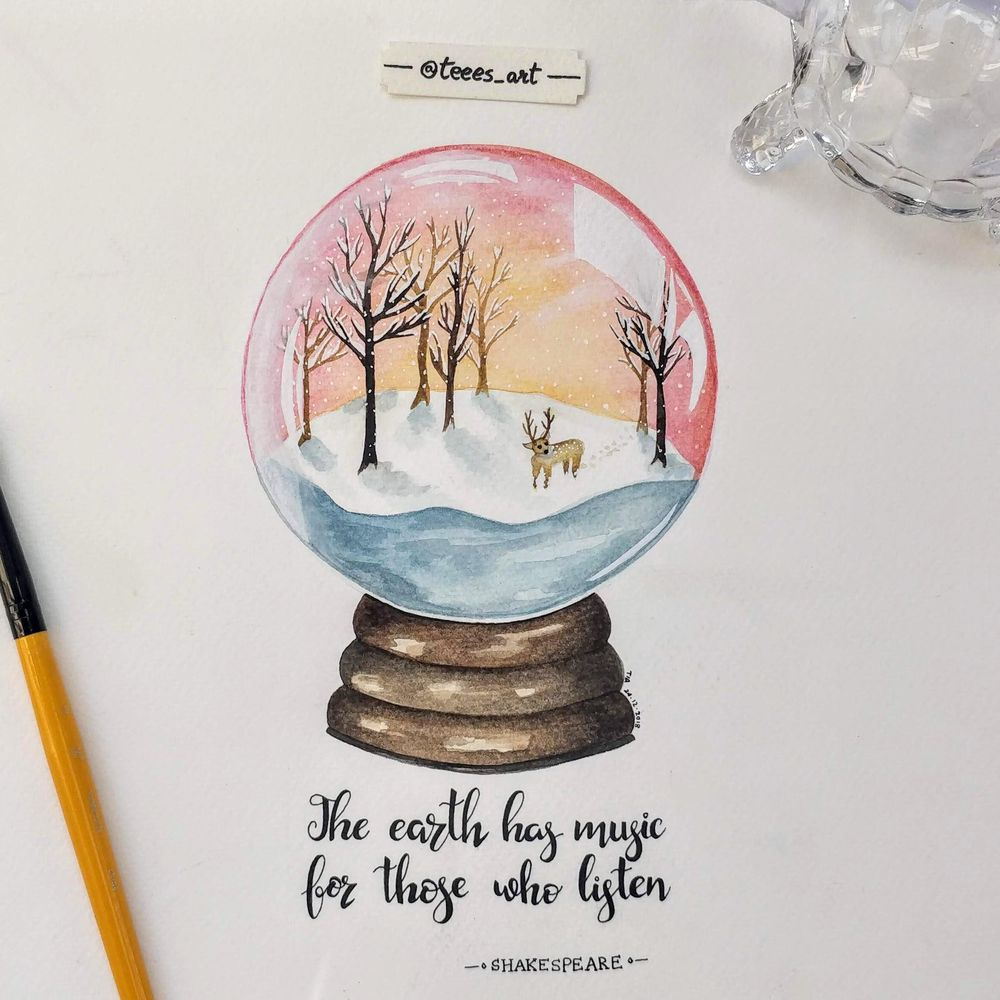 Snow Globes with Hand Lettering - image 1 - student project
