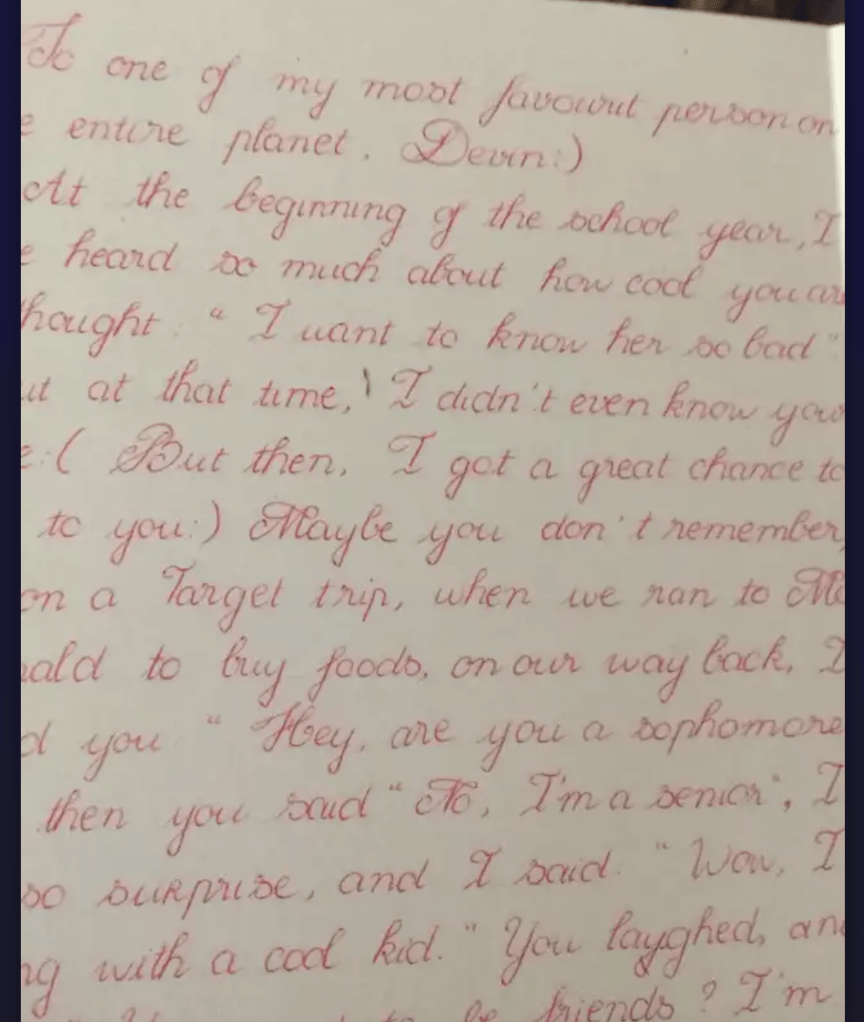 """""""Before"""" handwriting sample - image 3 - student project"""