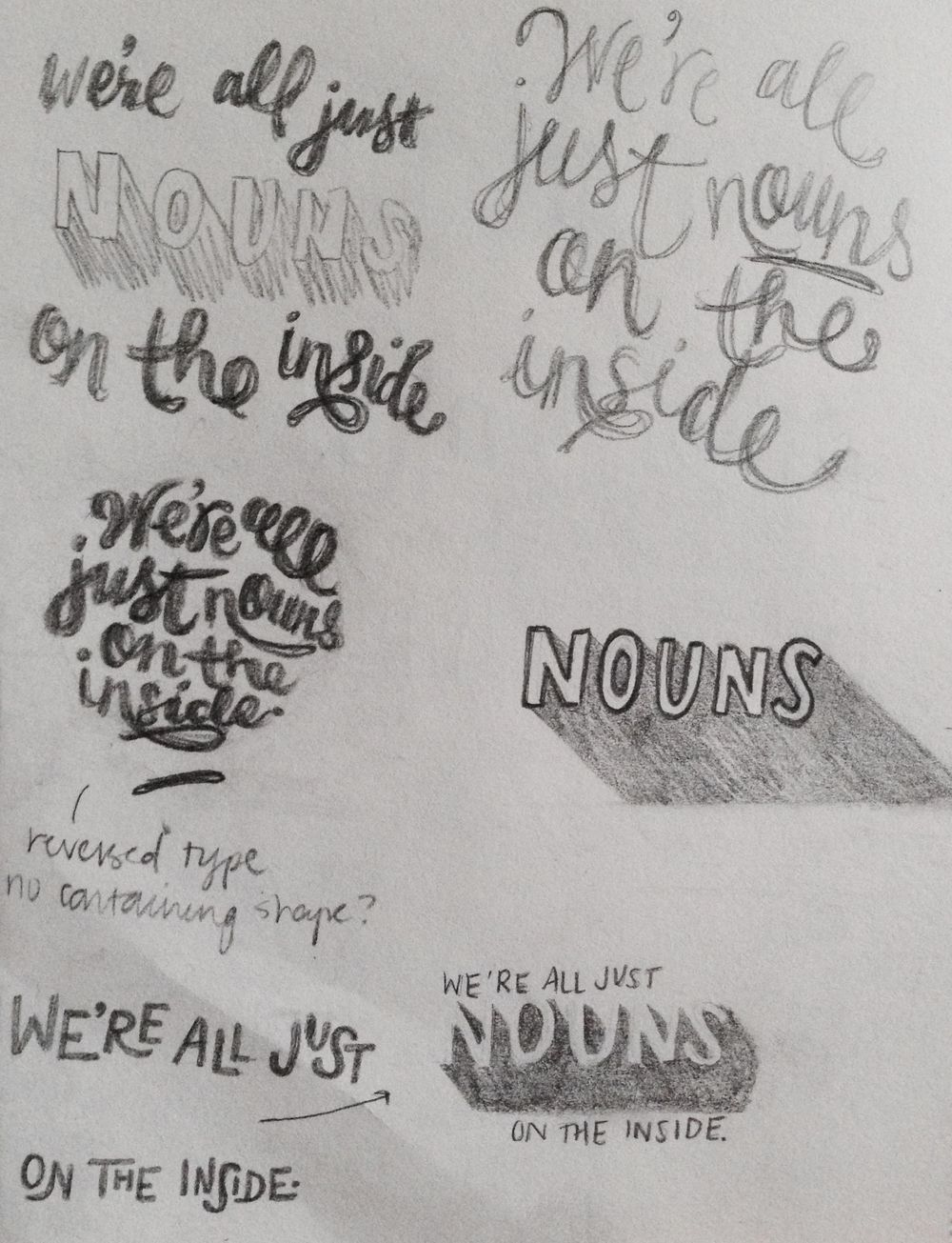 We're all just nouns on the inside. - image 4 - student project