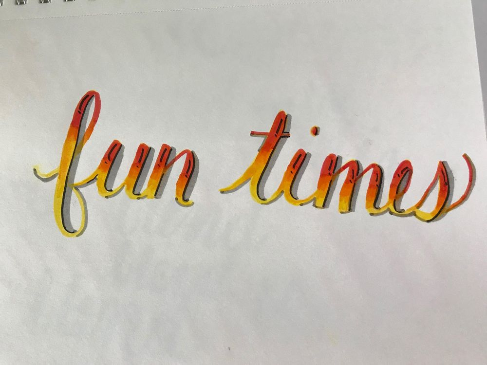 Crayola Handlettering & Watercolor - image 2 - student project