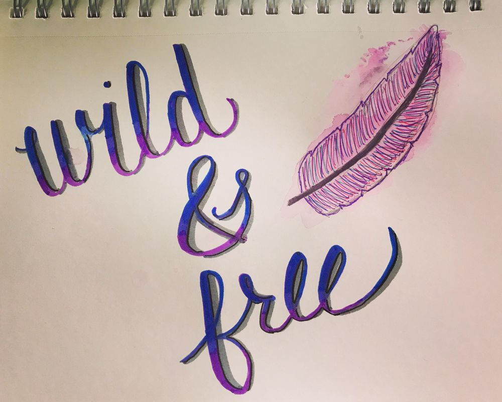 Crayola Handlettering & Watercolor - image 1 - student project
