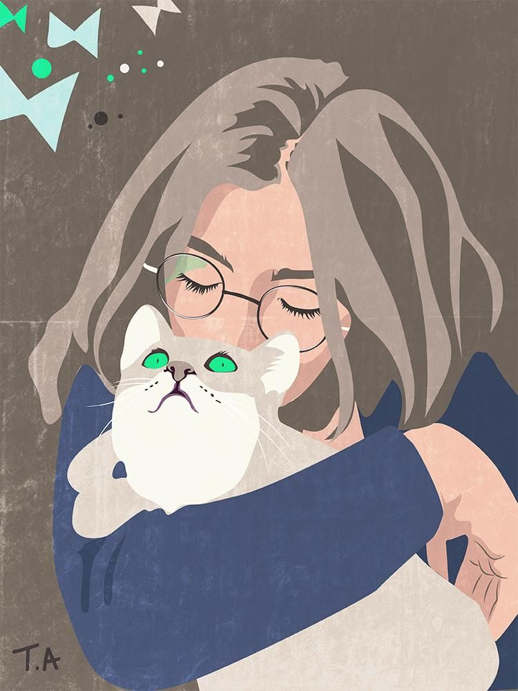 Daughter and her cat - image 2 - student project