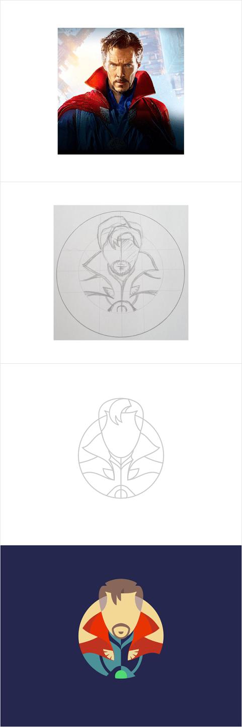 Dr. Strange, DeLorean Icons - image 1 - student project