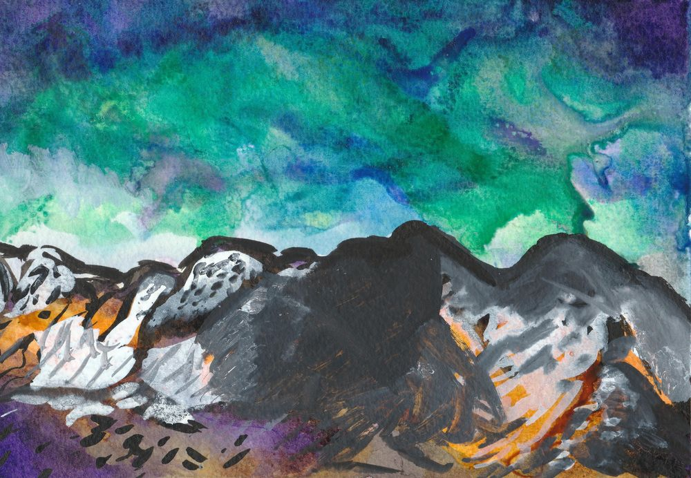 INKcredible: Poppies & Landscapes - image 2 - student project