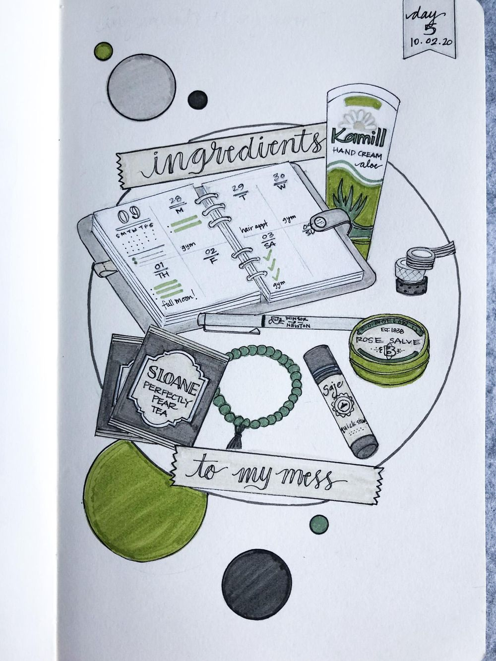 Illustrated Journalling 28 day challenge- PT 1 - image 10 - student project