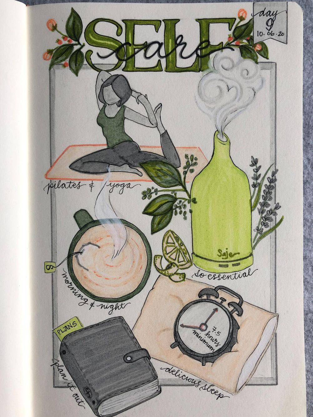 Illustrated Journalling 28 day challenge- PT 1 - image 6 - student project